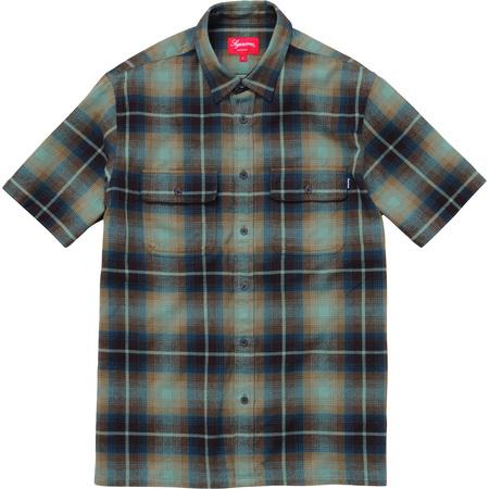 S/S Plaid Flannel Shirt (Dark Gold)