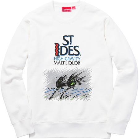 Supreme®/St. Ides® Crewneck (White)