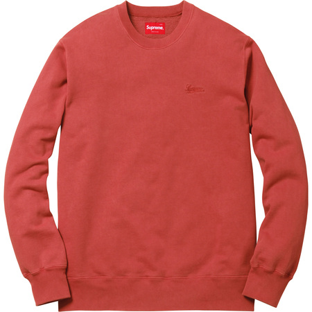 Embroidered Overdyed Crewneck (Brick)