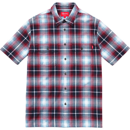 S/S Plaid Flannel Shirt (Navy)