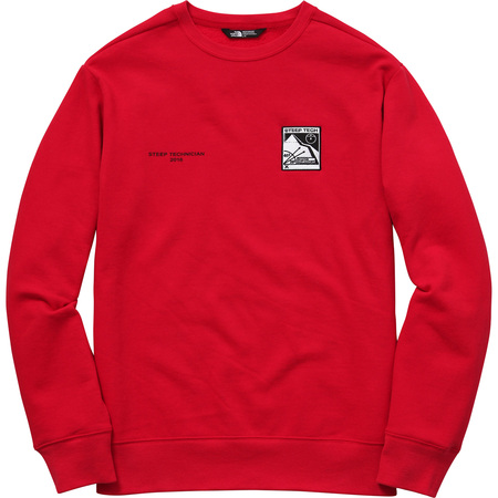 Supreme/The North Face Steep Tech Crewneck (Red)