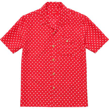 Polka Dot Silk Shirt (Red)