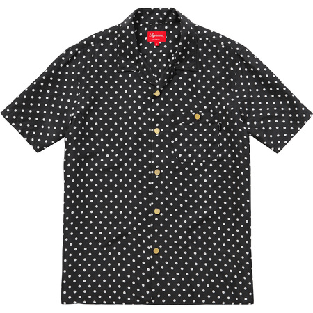 Polka Dot Silk Shirt (Black)