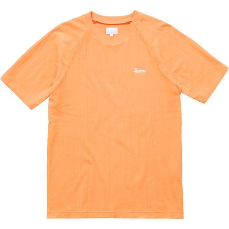 Striped Terry Raglan Top (Light Orange)