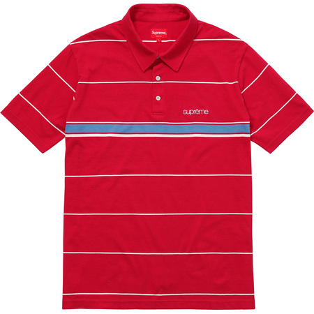 Striped Polo (Red)