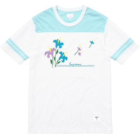 Flower Football Top (Light Blue)