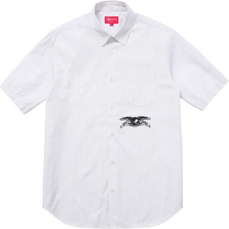Supreme®/ANTIHERO® S/S Shirt (Navy Stripe)