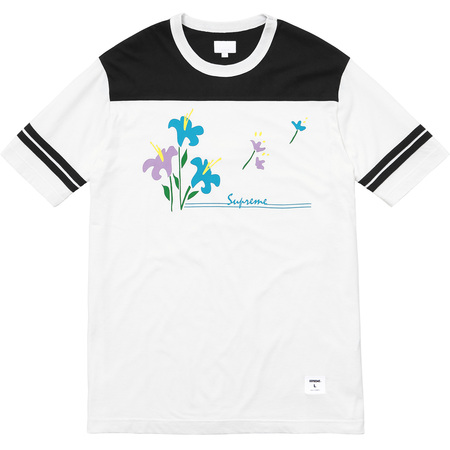 Flower Football Top (Black)
