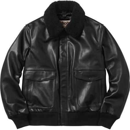Supreme®/Schott® Leather A-2 Flight Jacket (Black)