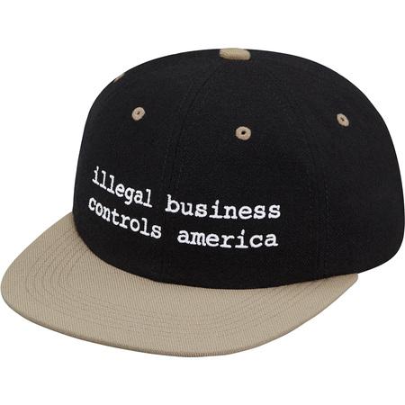 2-Tone Illegal Business 6-Panel (Black)
