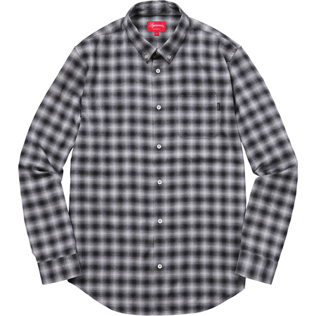 Mini Shadow Plaid Shirt (Black)