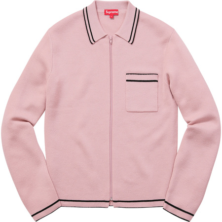 Zip Up Polo Sweater (Dusty Pink)