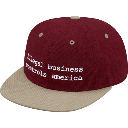 2-Tone Illegal Business 6-Panel (Burgundy)