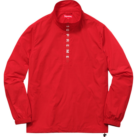 Zip Logo Pullover Windbreaker (Red)