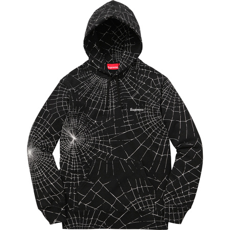 Spider Web Hooded Sweatshirt (Black)