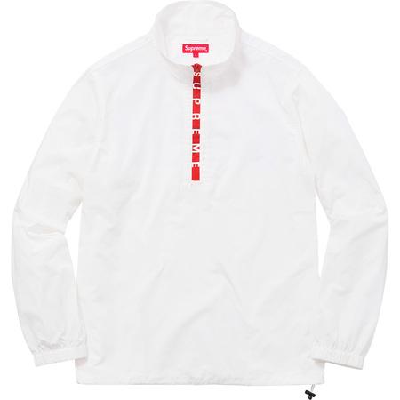 Zip Logo Pullover Windbreaker (White)