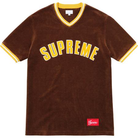 Velour Baseball Top (Brown)