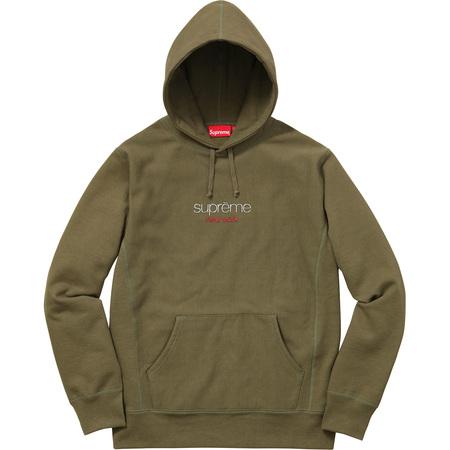 Chrome Classic Logo Hooded Sweatshirt (Olive)