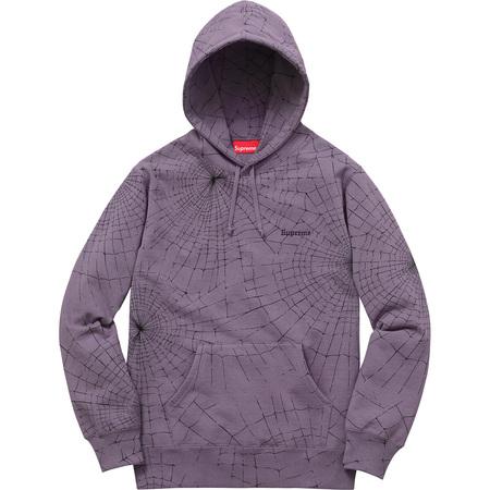 Spider Web Hooded Sweatshirt (Dusty Purple)
