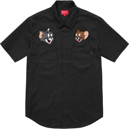 Supreme®/Tom & Jerry© S/S Work Shirt (Black)