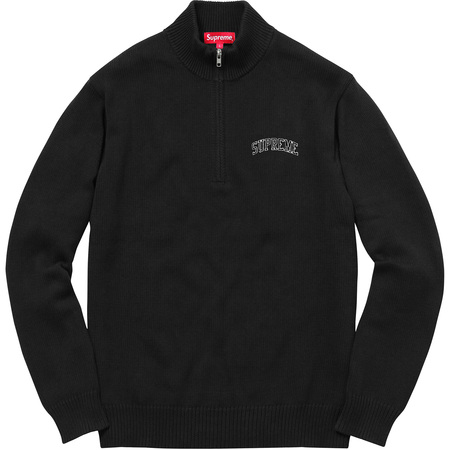Half Zip Mock Neck Sweater (Black)