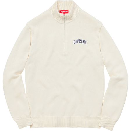 Half Zip Mock Neck Sweater (Natural)