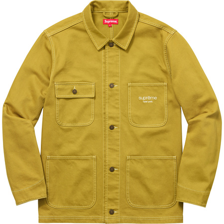 Denim Chore Coat (Pea Green)