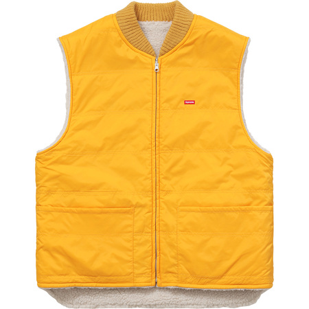 Sherpa Fleece Reversible Work Vest (Yellow)