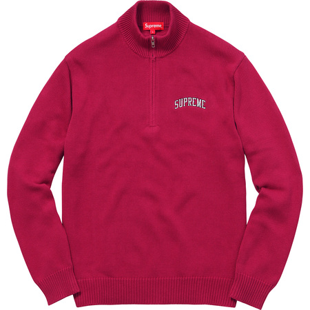 Half Zip Mock Neck Sweater (Dark Magenta)