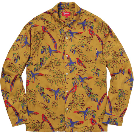 Birds Of Paradise Rayon Shirt (Olive)