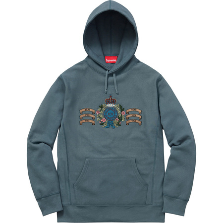 Crest Hooded Sweatshirt (Slate)