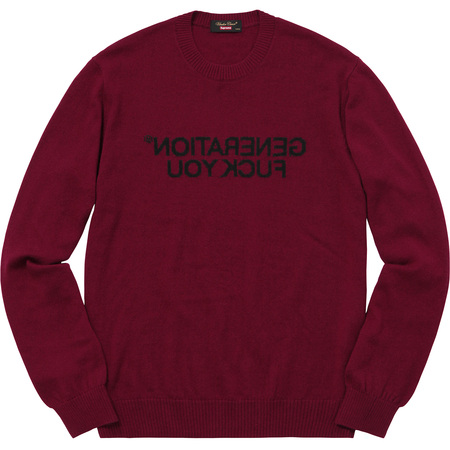 Supreme®/UNDERCOVER Generation Fuck You Sweater (Burgundy)