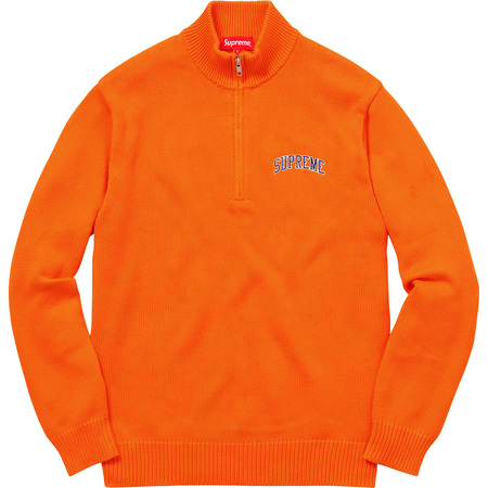 Half Zip Mock Neck Sweater (Orange)