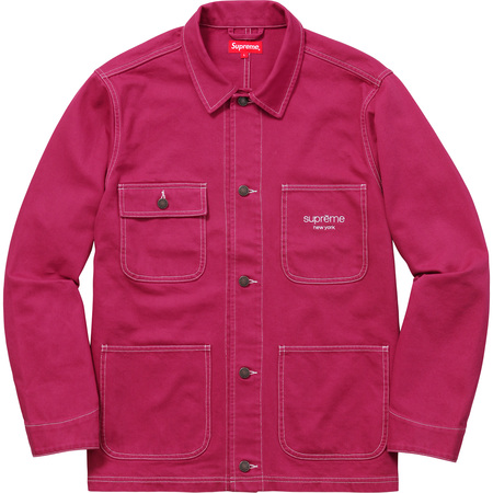 Denim Chore Coat (Magenta)