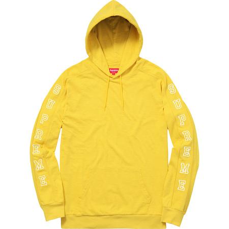 Hooded Sleeve Stripe Top (Yellow)