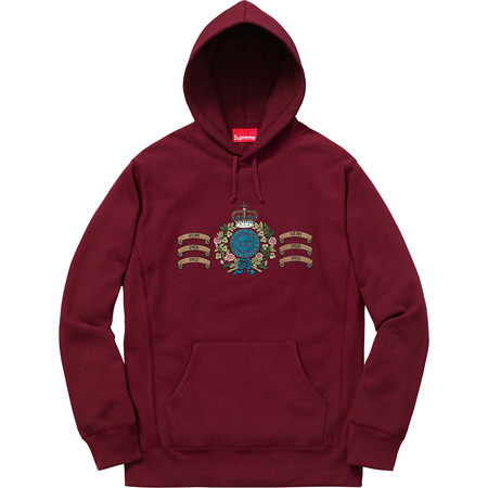 Crest Hooded Sweatshirt (Burgundy)