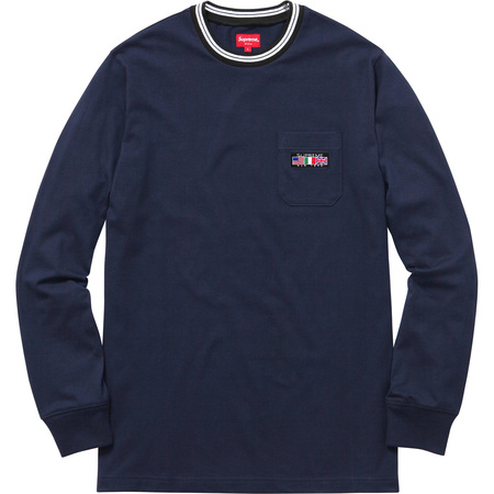 Flags L/S Pocket Tee (Navy)
