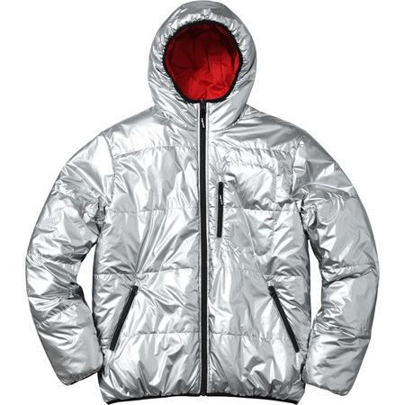 Reversible Hooded Puffy Jacket (Silver)