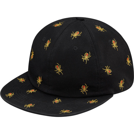 Embroidered Spiders 6-Panel (Black)