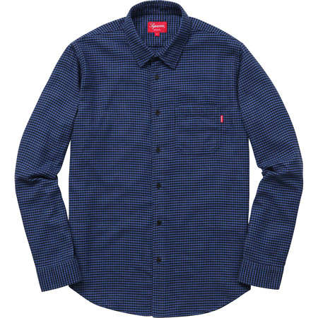 Houndstooth Flannel Shirt (Royal)
