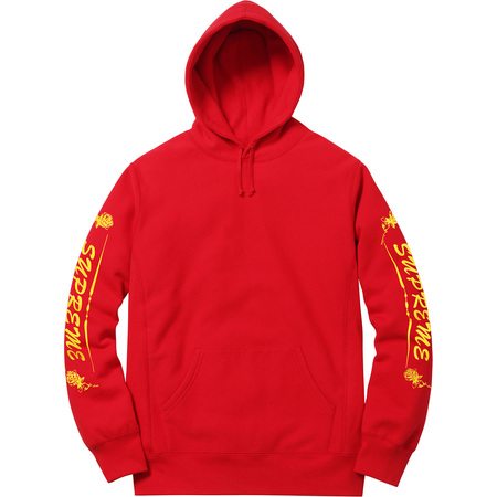 Rose Hooded Sweatshirt (Red)