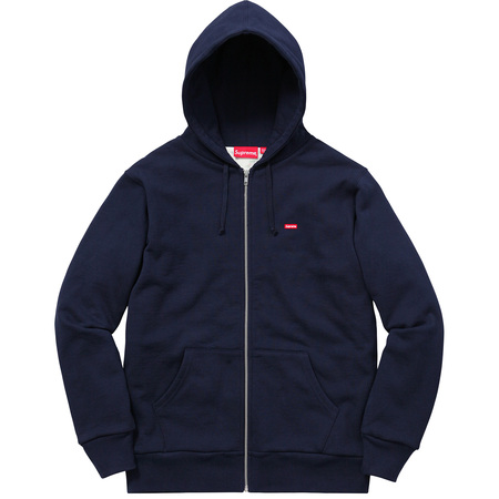 Small Box Thermal Zip Up Sweat (Navy)
