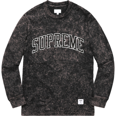 Acid Wash Arc Logo L/S Tee (Black)