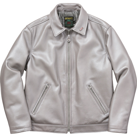 Supreme®/Schott® Leather Work Jacket (Silver)