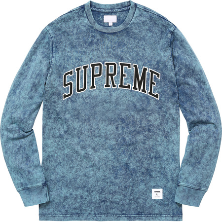 Acid Wash Arc Logo L/S Tee (Indigo)