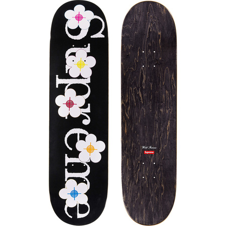 Flowers Skateboard (Black)