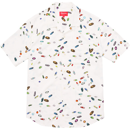 Pills Rayon Shirt (White)