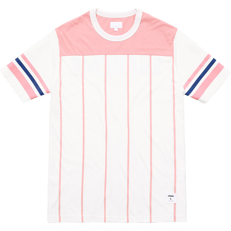 Pinstripe S/S Football Top (Pink)