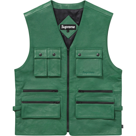 Leather Utility Vest (Green)