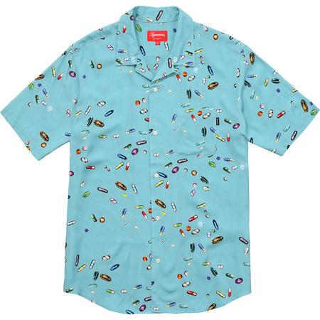 Pills Rayon Shirt (Light Blue)